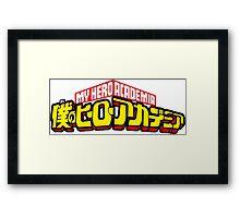 My Hero Academia Framed Print