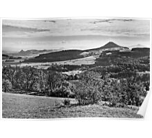 The Volcanic Hills of the Hegau - Lake Constance (BW) Poster