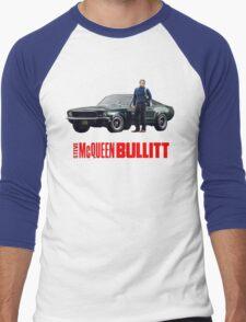STEVE MCQUEEN BULLITT 1968 FORD MUSTANG Men's Baseball ¾ T-Shirt