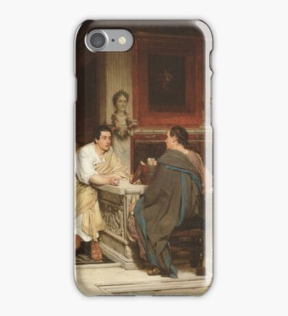 the-discourse by Lawrence Alma-Tadema iPhone Case/Skin