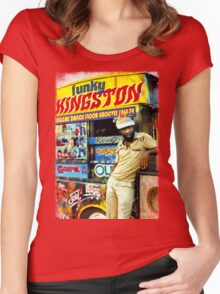FUNKY KINGSTON Women's Fitted Scoop T-Shirt