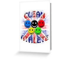 clean athlete british Greeting Card