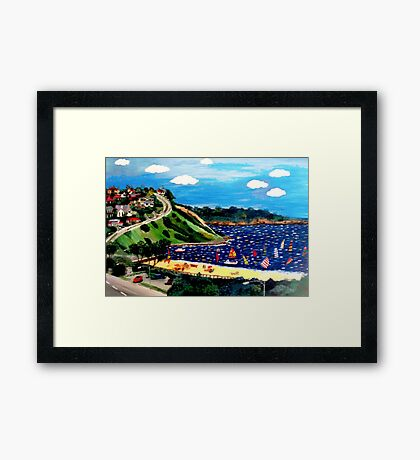 Olivers Hill Frankston - 1970's Framed Print