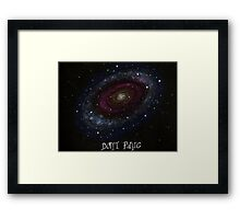 The Hitchhiker's Guide to the Galaxy Tshirt , Don't Panic Framed Print