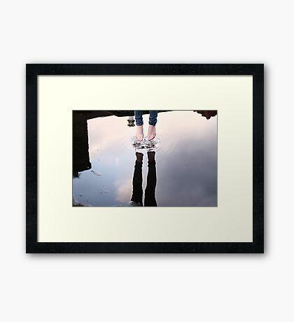 Jump & touch the sky Framed Print