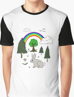 Nature Scene Graphic T-Shirt
