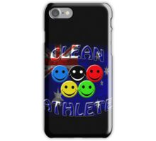 clean athlete Australia iPhone Case/Skin