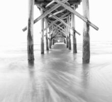Pier – black and white Sticker