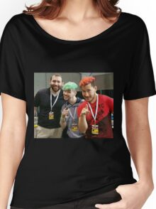Markiplier, Jacksepticeye, and LordMinion777 at PAX East Women's Relaxed Fit T-Shirt