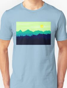 Mountain landscape. Illustration. Unisex T-Shirt