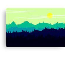 Mountain landscape. Illustration. Canvas Print