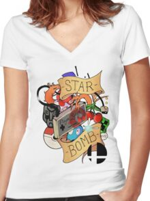 Starbomb Women's Fitted V-Neck T-Shirt