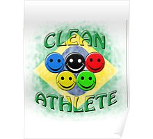 clean athlete Brazil Poster