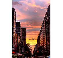 Golden New York Sunset Photographic Print