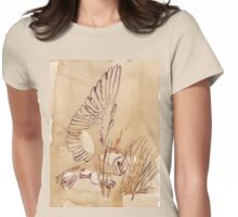 Barn Owl hunting 1 Womens Fitted T-Shirt