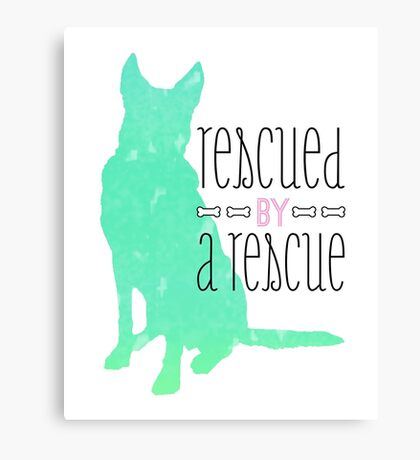 rescued by a rescue Canvas Print