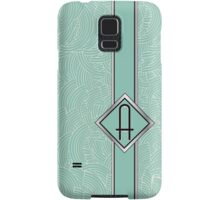 1920s Blue Deco Swing with Monogram letter A Samsung Galaxy Case/Skin