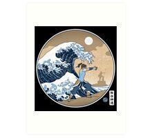 Avatar Waterbender Great Wave Art Print