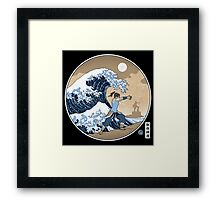 Avatar Waterbender Great Wave Framed Print