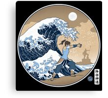 Avatar Waterbender Great Wave Canvas Print