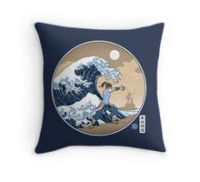 Avatar Waterbender Great Wave Throw Pillow