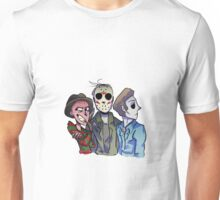 Freddy, Jason and Michael  Unisex T-Shirt