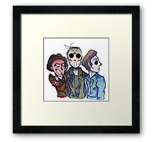 Freddy, Jason and Michael  Framed Print