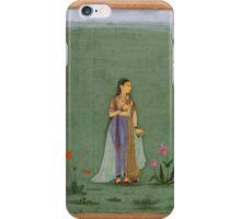 Two portraits of Jahanara and Nadira Banu - Mughal School iPhone Case/Skin