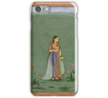 Two portraits of Jahanara and Nadira Banu - Mughal School iPhone Case/Skin