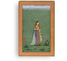 Two portraits of Jahanara and Nadira Banu - Mughal School Canvas Print