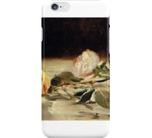 Two roses on a tablecloth - Edouard Manet iPhone Case/Skin