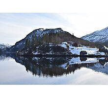 Lonely houses in Norway Photographic Print