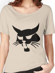Black wild cat Women's Relaxed Fit T-Shirt