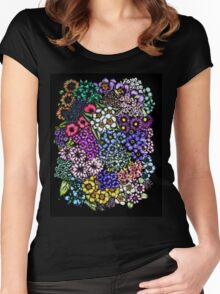 Midnight Blossoms Women's Fitted Scoop T-Shirt