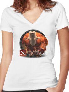 Dota 2 Juggernaut Women's Fitted V-Neck T-Shirt