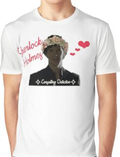 Sherlock Holmes - Flower Crown Graphic T-Shirt