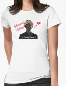Sherlock Holmes - Flower Crown Womens Fitted T-Shirt