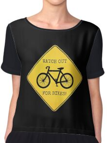 Watch Out For Bikes!! - Sticker Chiffon Top