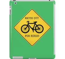 Watch Out For Bikes!! - Sticker iPad Case/Skin