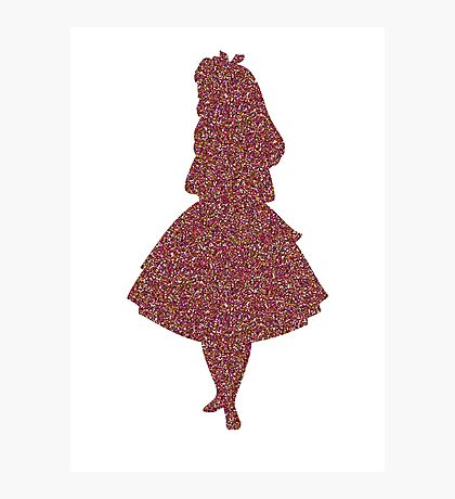 Glitter party Alice Photographic Print