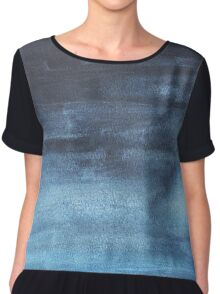 Blue ombre watercolor Chiffon Top