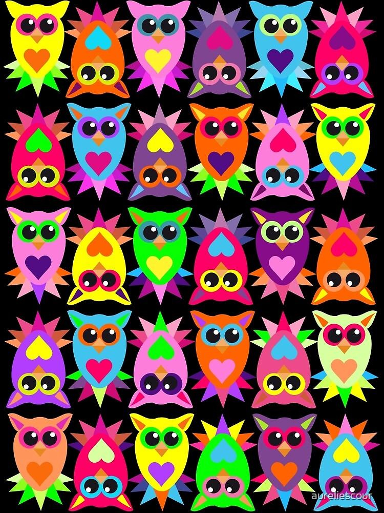 Cute owls by aureliescour