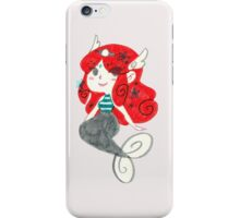 Red Haired Mermaid - Marker Drawing iPhone Case/Skin