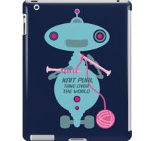 Knit Purl Take Over the World robot knitting needles iPad Case/Skin