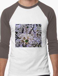 Beauty In White Men's Baseball ¾ T-Shirt