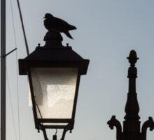 Dove Perch - Quaint Cast Iron Harbor Lights and Boat Masts - Left Sticker