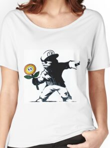 The Mario Flower Chucker Women's Relaxed Fit T-Shirt