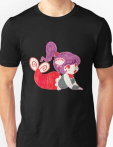 Purple Haired Mermaid Marker Drawing T-Shirt