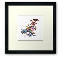 crazy surfer Framed Print