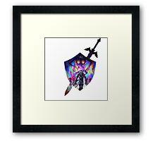 zelda sword and shield Framed Print
